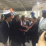 During the openning Ceremony of Asian Culture and Tourism Exhibition on 16 May 2019, H.E. Mr. Leela Mani Paudyal, Ambassador of Nepal to China and H.E. Mr. Luo Shugang, Minister of Culture and Tourism of the PRC visited the booth of Nepal.